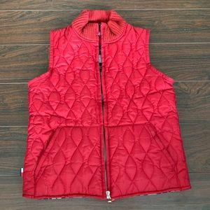 Vintage Tommy Hilfiger mens puffer vest red